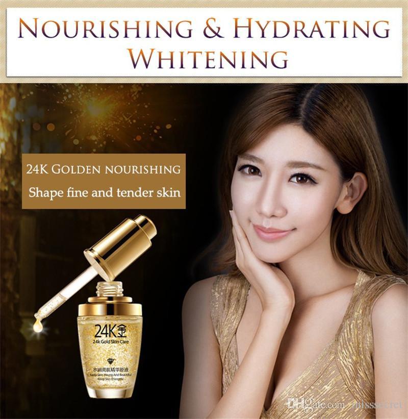 BIOAQUA 24K Gold Face Cream Whitening Moisturizing 24 K Gold Day Creams & Moisturizers 24K Gold Essence Serum Skin Care