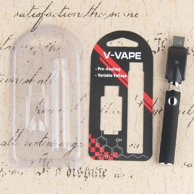 V-VAPE VV Battery Kit 650mAh Battery O Pen Wax Vape Variable Voltage Adjust 510 thread for Oil Cartridge Vaporizer