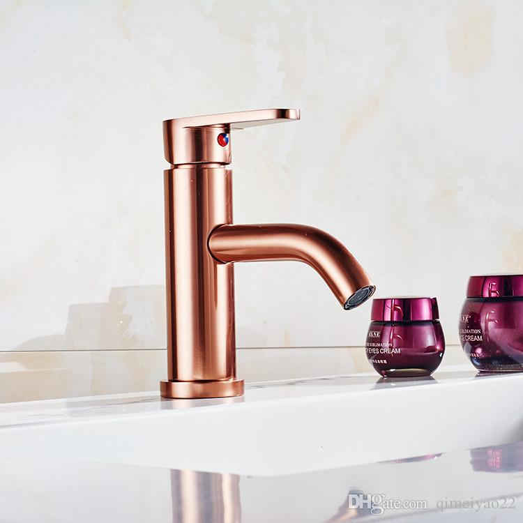 Modern Style Rose Gold Kitchen Faucet Cold And Hot Water Mixer - Rose gold kitchen faucet