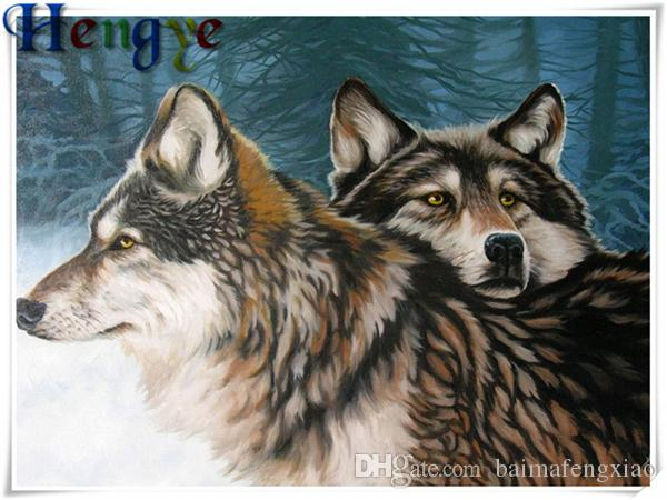 Diamante bricolaje pintura punto de cruz kit rhinestone mosaico decoración del hogar regalo animal lobo roundsquare diamante completo 5D bordado yx2918