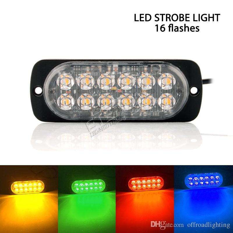 Strobe Lights For Trucks >> Free Ship 2x 12 Led Strobe Light Truck Offroad 4x4 Vehicles Led