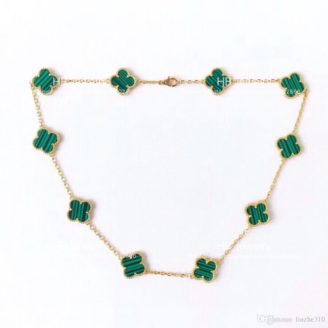 High Version 10 Four Leaf Flower Necklace For Lady Design Women