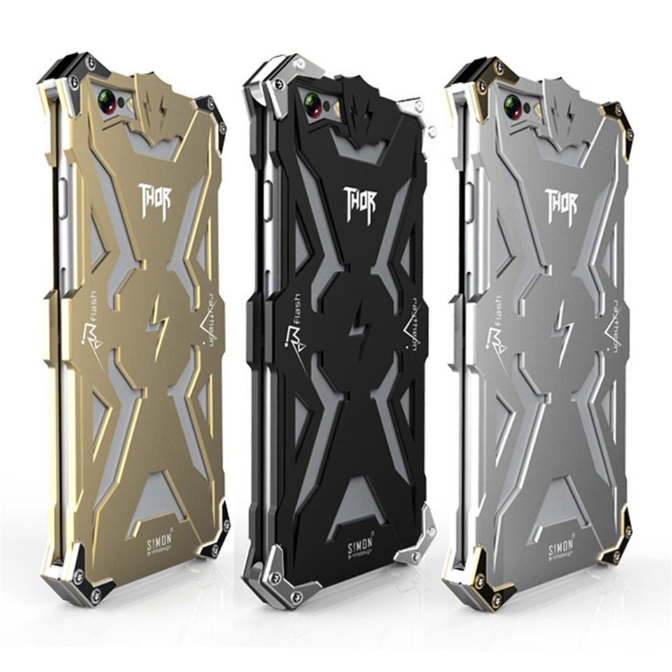 size 40 32dc9 eb6a7 Zimon Thor Metal Case For Iphone 7 Case Luxury 6 6s 5s Se Case Cool Fashion  Cover Iron Man Aluminum Tough Heavy Dust Armor