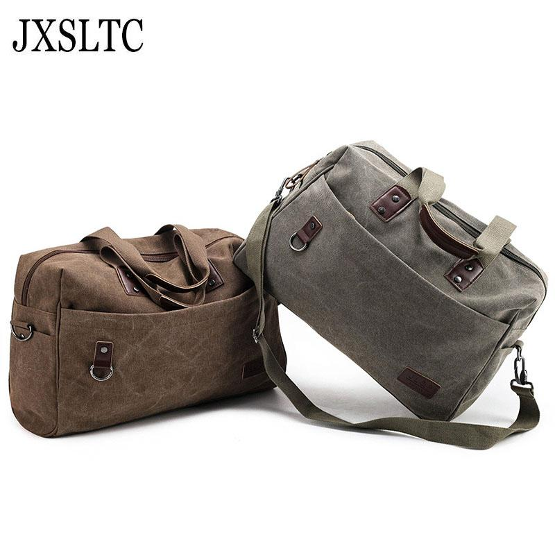 Vintage Canvas Men Travel Bags Women Duffle Luggage Bags Casual Tote ... 0346f30450be4