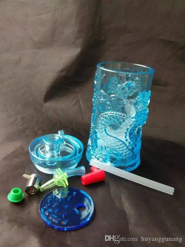 Avec une longue bangs eau en verre bong verre en gros brûleurs à mazout en verre Tubes d'eau huile fumante gratuit Rigs