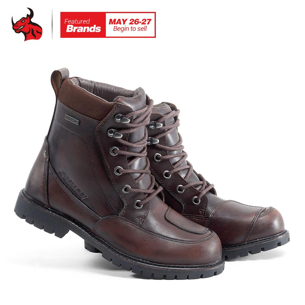 2019 Duhan Leather Motorcycle Boots Men Waterproof Moto Boots