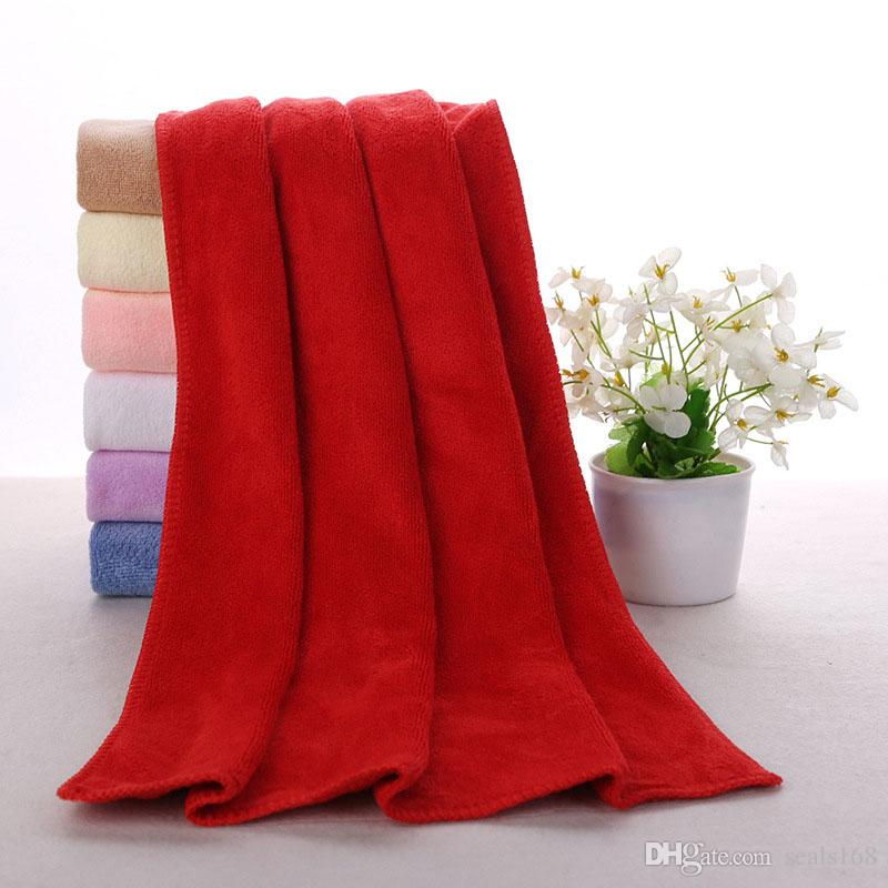 New Cleaning Cloths Fast Drying Water Uptake Auto Clean Towels Superfine Fiber Kitchen Cleanliness Beauty Salon Towels 30*70cm FBA HH7-799