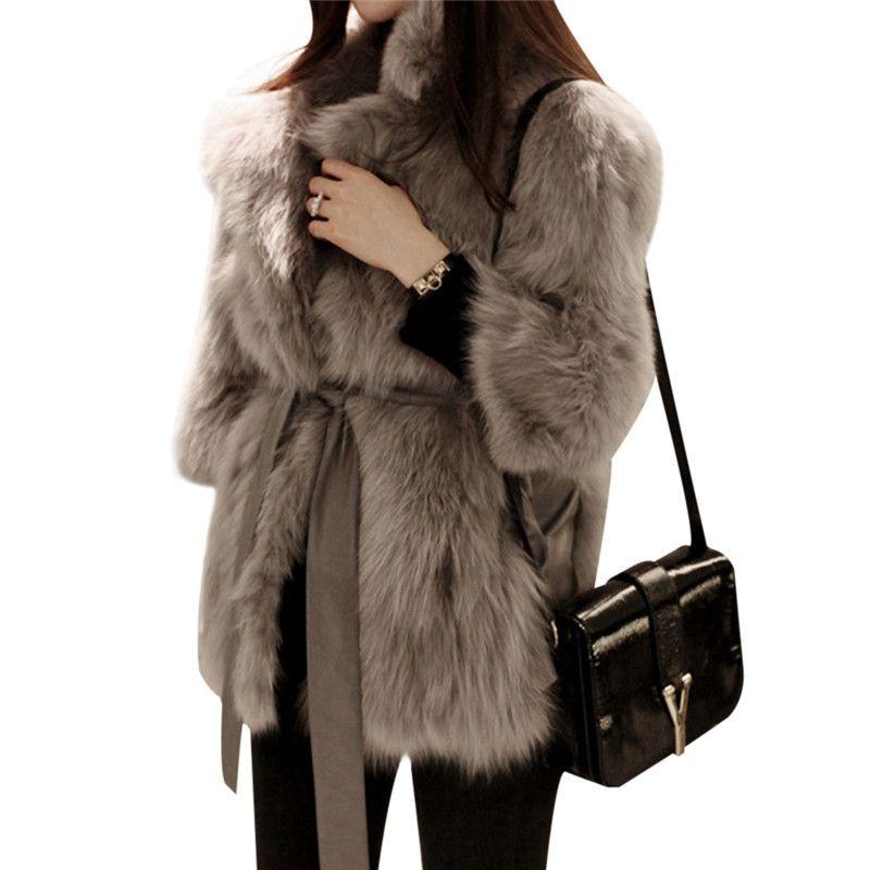 50a60104e09 2019 Thick Warm Womens Luxury Mink Coats Fluffy Faux Fur Jacket Fake Rabbit  Fur Coat Manteau Fourrure Femme Plus Size 2018 Winter C18111501 From  Shen8407
