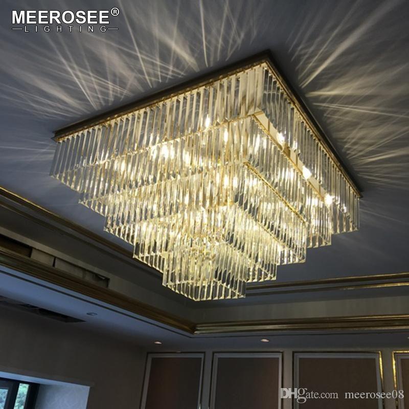 Modern Luxury Led Chandelier Light Glass Ball Dining Living Room Hanging Lamp Gold Chrome Lustre Suspension For Bedroom Lighting For Fast Shipping Chandeliers Ceiling Lights & Fans