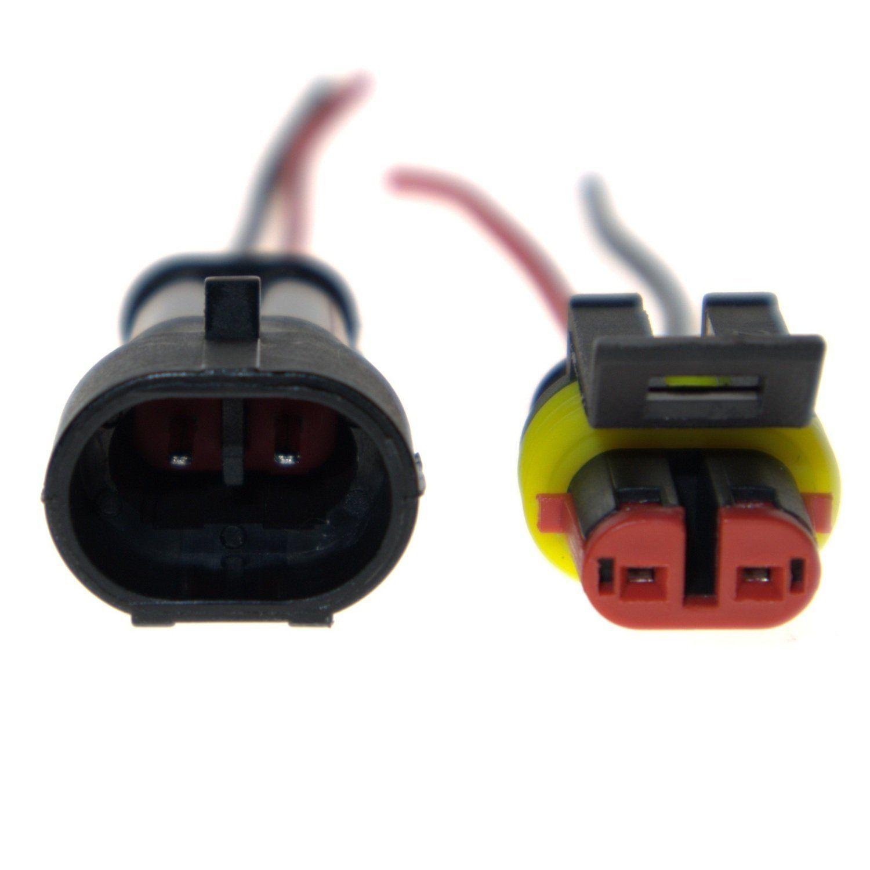 Kit di prese elettriche con connettore auto impermeabile a 2 pin con cavo AWG Gauge Marine Pack da 10