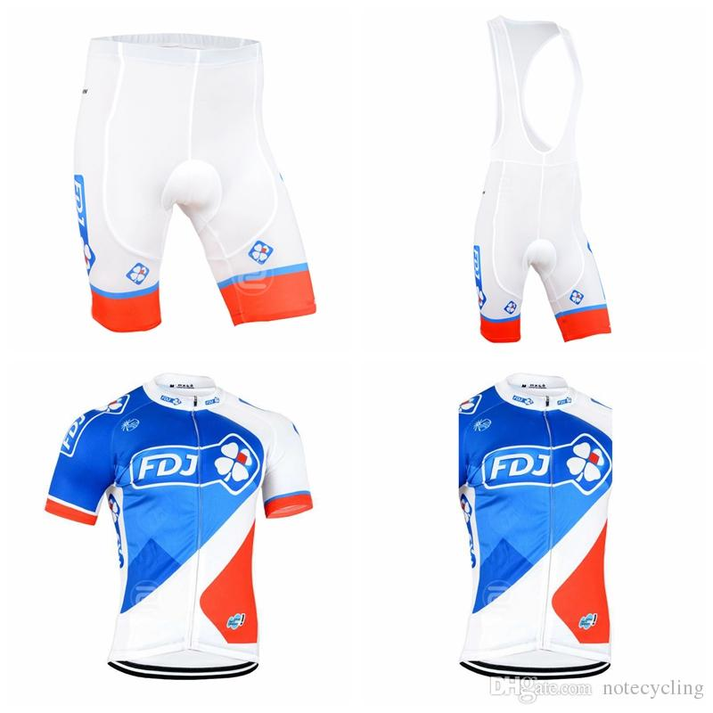 48bd4e1b8 FDJ Cycling Short Sleeves Jersey Bib Shorts Sleeveless Vest Sets 2018 New  Best Selling Cycling Bike Maillot Ropa Ciclismo Jersey A41329 Motorbike  Clothing ...
