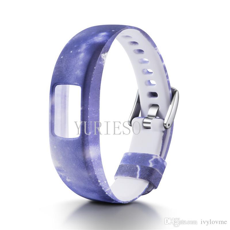 Garmin VivoFit 4 için yedek desen Silikon Bilek Bandı Kayışı Spor Garmin VivoFit4 için Etkinlik Izci Bilezik Saat Kayışı Yeni