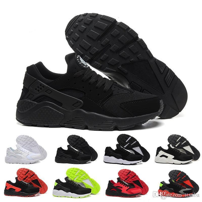 sports shoes 500d8 daf2a Acquista NIKE 2018 Air Huarache I Più Recenti Air Huarache I Scarpe Da  Corsa Uomo Donna, Bianco Nero Oro Rosa Sneakers Triple Huaraches 1 Scarpe Da  ...