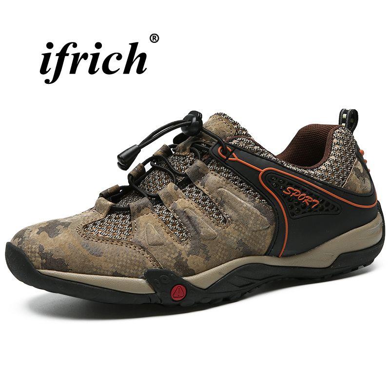 ffc675dc28207 Compre Senderismo Hombres Botas Marrón Gris Al Aire Libre Zapatos Hombre  Primavera Verano Botas De Montaña Hombre Parte Inferior De Goma Zapatillas  De ...