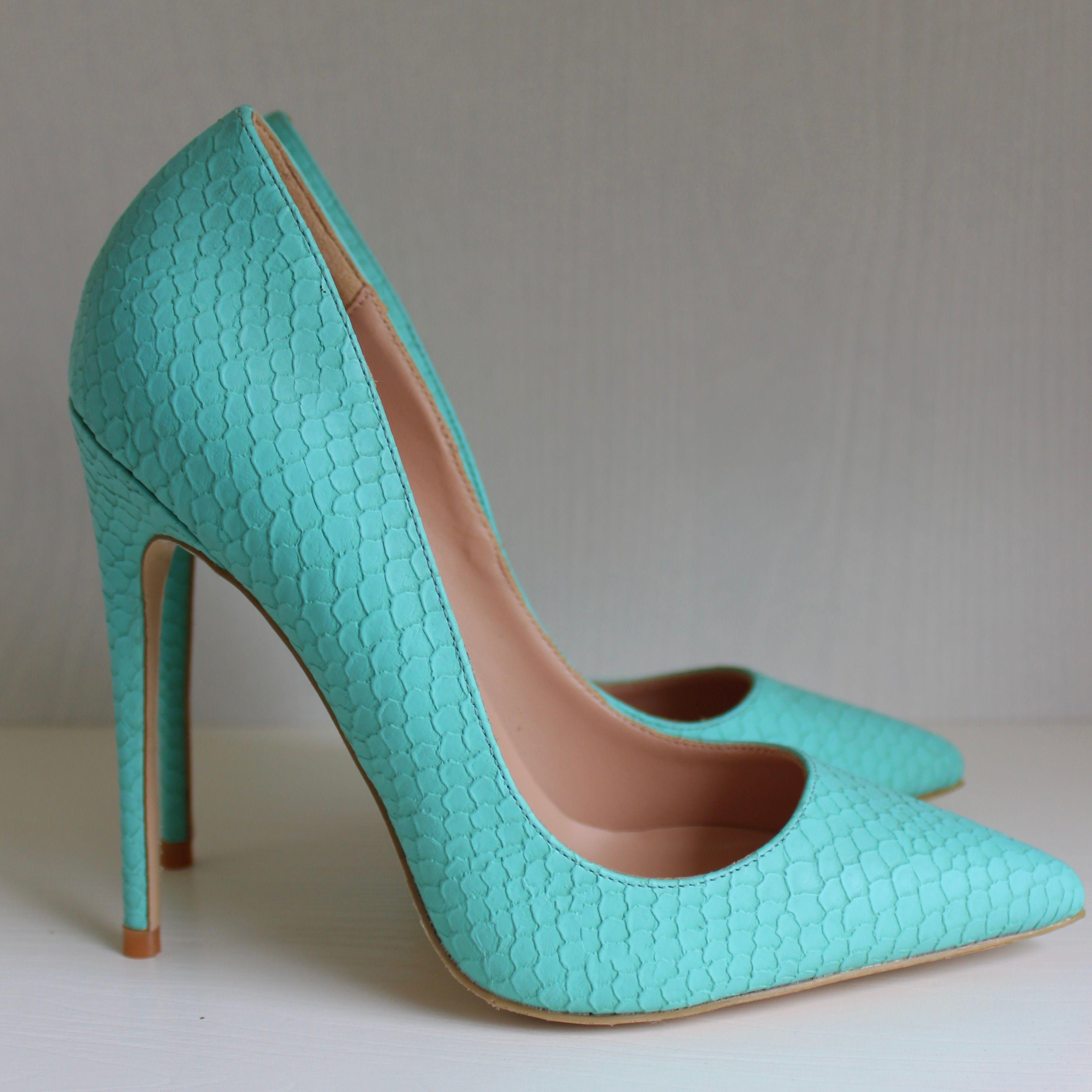 e61445962b5 Free shipping Fashion women Casual Designer sexy lady Mint snake python  pointy toe high heels pumps shoes Stiletto heeled 8cm 10cm 12cm