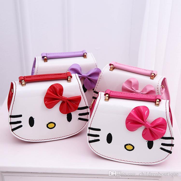 ac41121f7c Fashion Kids Handbag Cartoon Hello Kitty Pattern Printing Lovely Kids  Shoulder Bag Girls Bowknot Cross Body Bags Good Gifts For Daughter Kids  Purse Side ...