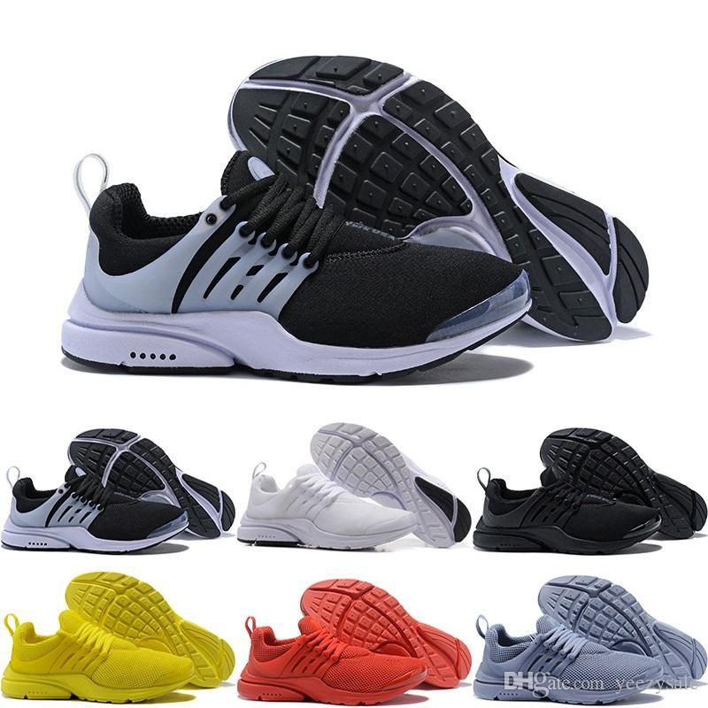 reputable site db4b3 529a9 Acheter Meilleur Presto 5 Br Qs Breathe Noir Blanc Jaune Rouge Hommes Femmes  Sneakers Femmes Chaussures De Course Chaud Hommes Chaussures De Sport À  Pied ...