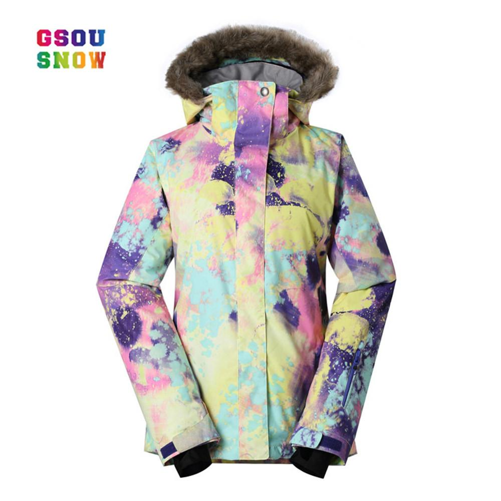 920168fa4e 2019 GSOU SNOW New Ski Jackets Women Winter Style Ladies Professional  Snowboard Jacket Warmth Thicken Waterproof Breathable Clothes From Yerunku