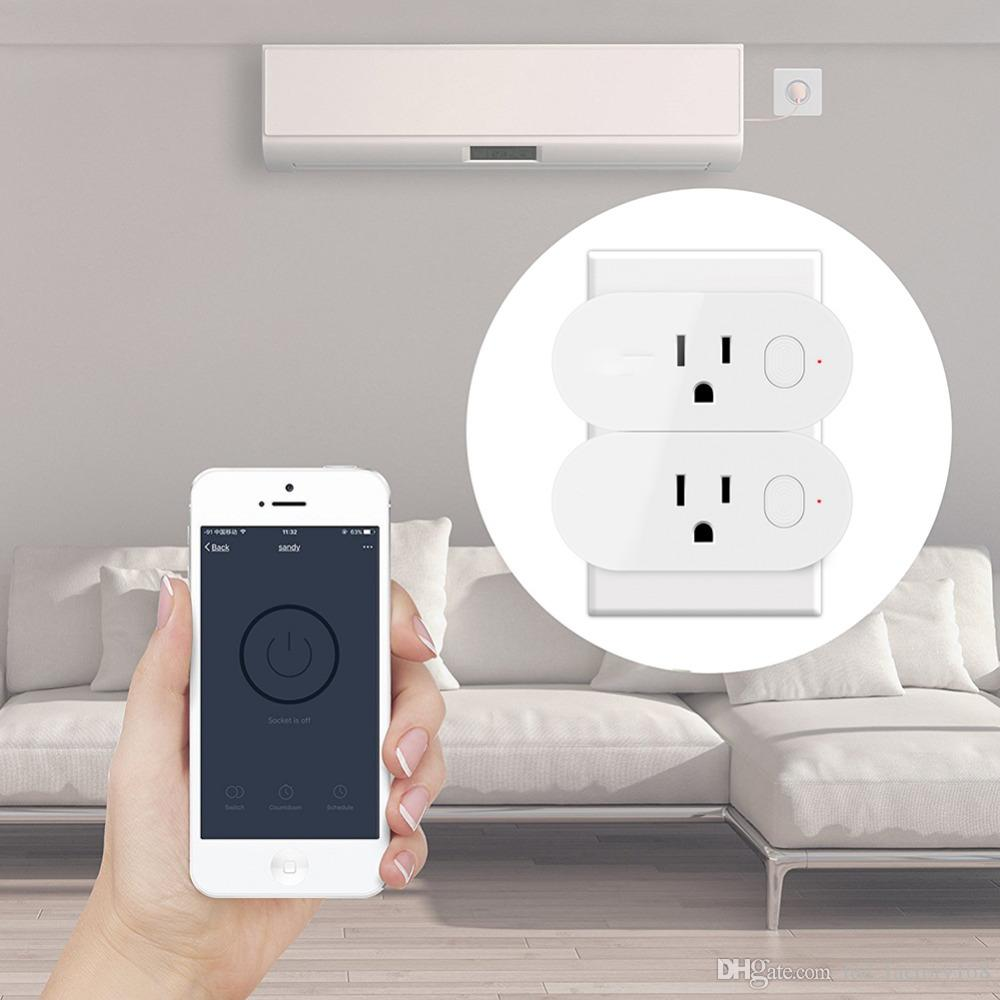 2018 Smart Wifi Smart Plug Outlet Work With Energy Monitoring Works ...
