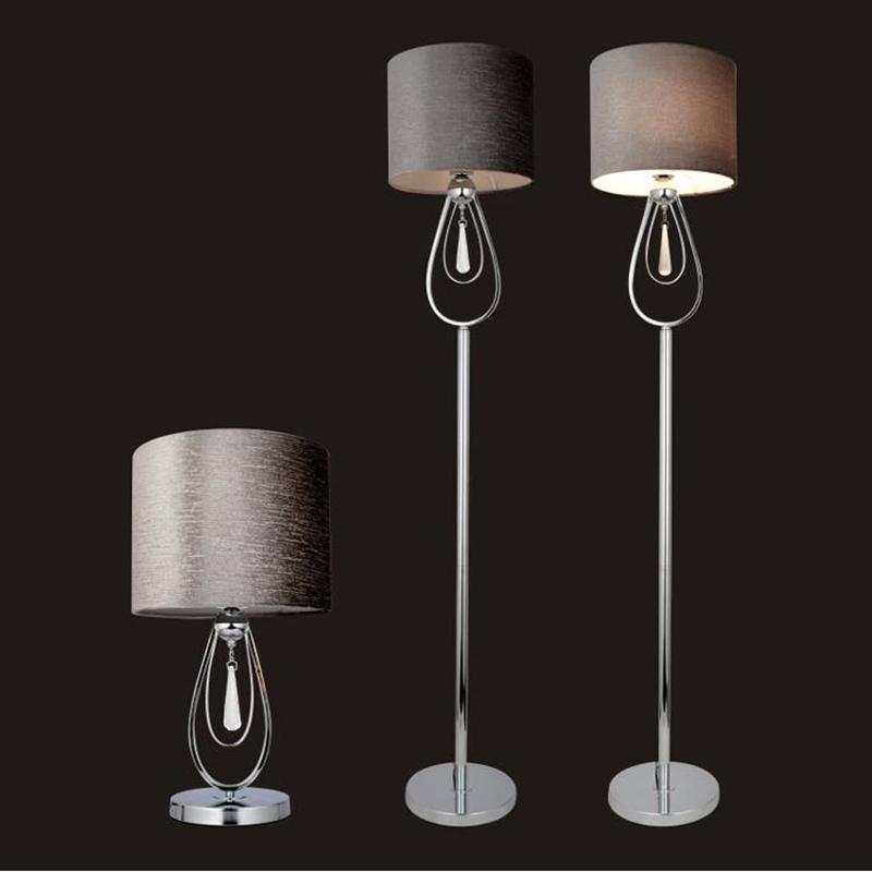 Modern Minimalist LED Crystal Floor Lamps Living Room Bedside Lights  European Creative LED Vertical Lights With Fabric Lampshade Online With  $295.2/Piece On ...