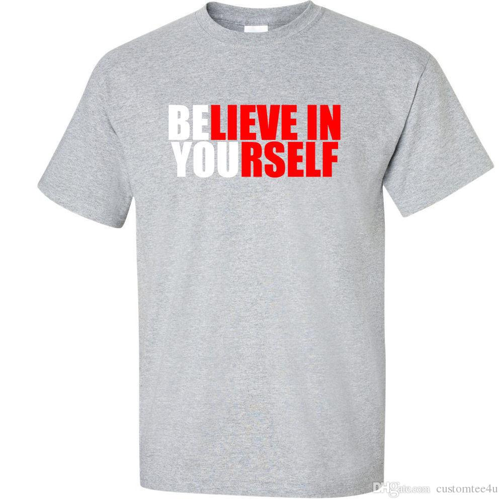 4e764d4c46b566 Big 3Xl 4Xl 5Xl Graphic T-Shirt Believe In Yourself 3X 4X 5X Big Mens Shirt  T-Shirt For Men Cool Custom Short Sleeve Plus Size Men's Camiset