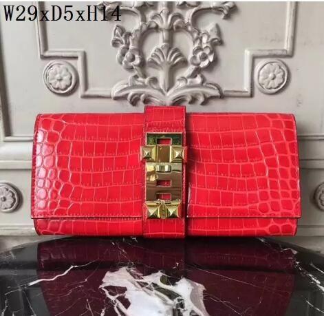 Original 2018 marke hohe qualität frauen handtaschen aus echtem leder dame abendtaschen krokodilkorn casual clutch geldbörse abendtaschen