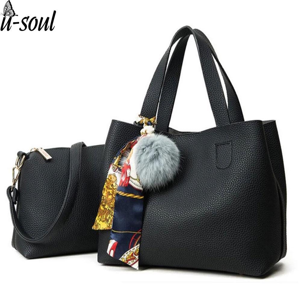 d7786c277227 Fashion Handbags Women Handbag Two Pieces Shoulder Bag Girls Small ...