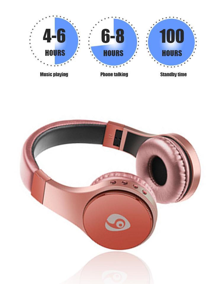 S55 Gaming Headset Bluetooth Auriculaire Support carte TF Pliable Bandeau écouteurs de casque sans fil pour Smart Phone