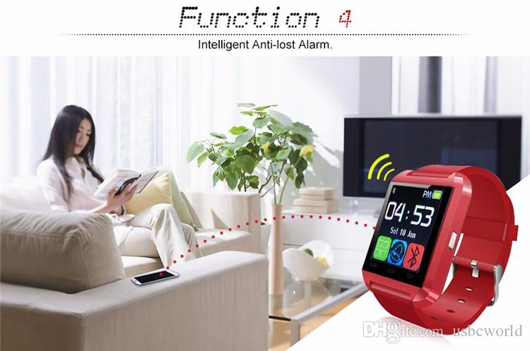Touch screen degli orologi del polso di Bluetooth U8 della culla della culla l'orologio astuto del monitor di sonno del telefono di Samsung Android IPhone con il pacchetto al minuto