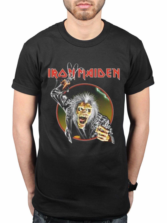 7243e676 Official Iron Maiden Eddie Hook Men'S Black T Shirt Online T Shirt ...