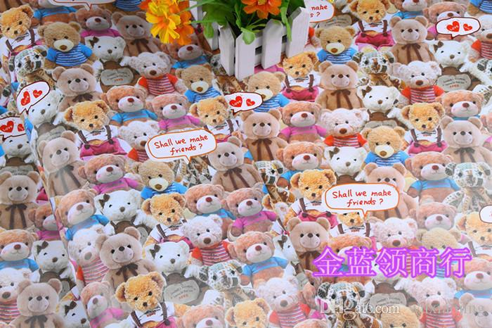 Gift Wrapping Paper Printing Cartoon Bear Gift Wrap DIY Paper Handicraft Birthday Gift Packaging Festive & Party Supplies 75*52cm