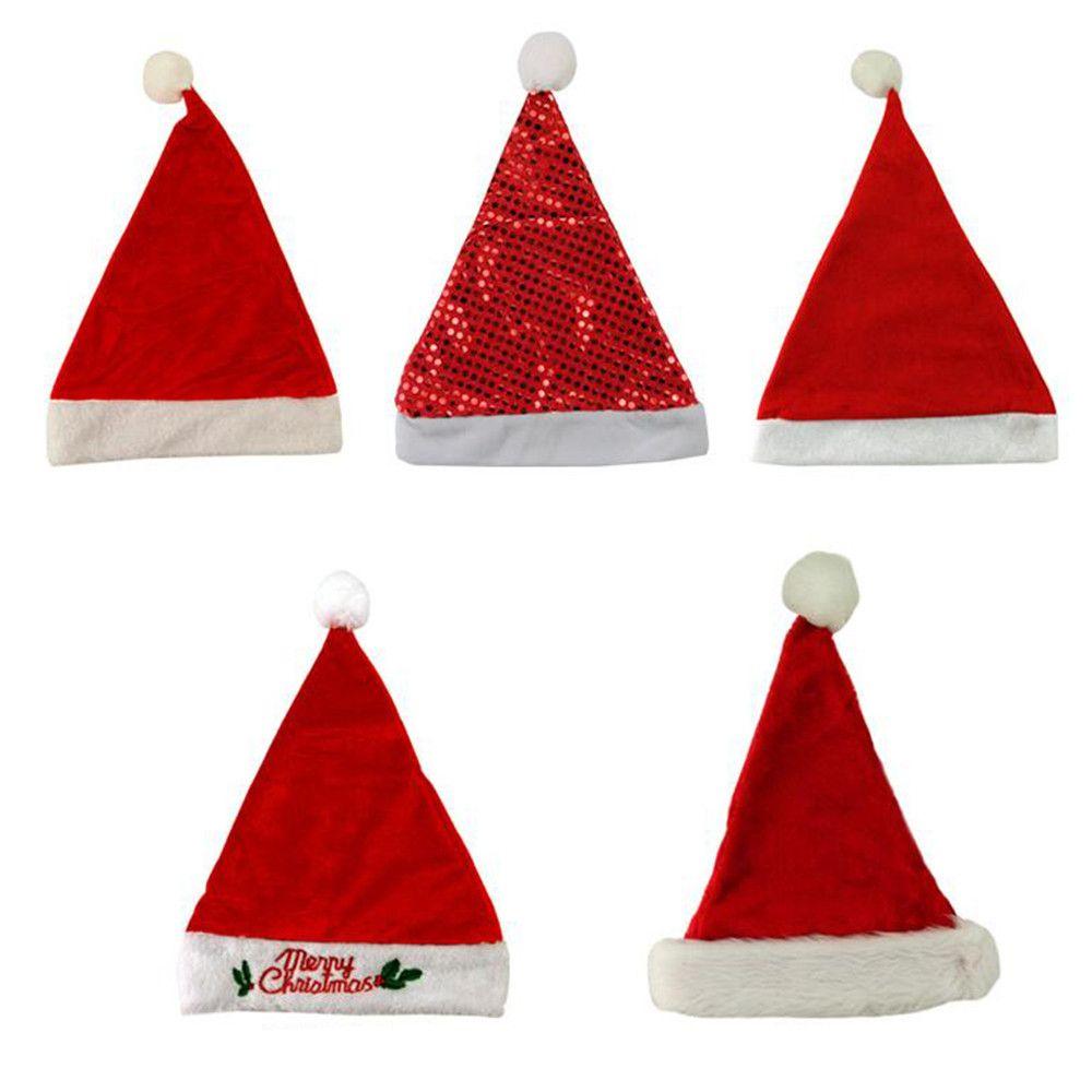 Weihnachten Geschenke 2019.5 Stück 2019 Jahr Frohe Weihnachten Geschenk Kinder Kinder Weihnachtsfeier Weihnachtsmütze Rote Kappe Für Weihnachtsmann Kostüm Neue Jahr