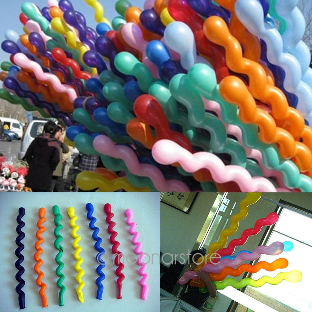 Hot Sale Long Screw thread Latex balloon Float air balls inflatable wedding birthday party decoration toys