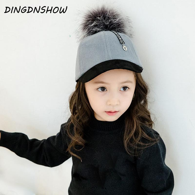 35a7c7c4864 DINGDNSHOW 2018 New Arrival Baseball Cap Cotton Warm Winter Cap Kids  Vintage Hip Hop Snapbacks Hat For Boys And Girls Flat Cap Trucker Hats From  Melontwo