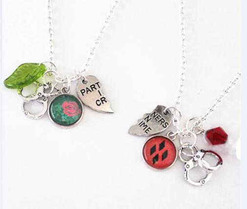 check-out acf36 4ae0f 6 paia / lotto Harley Ivy Bff Collana Set DC Harley Quinn Poison Ivy  Partner OTP in Crime Gioielli Fascino Geek Nerd regalo