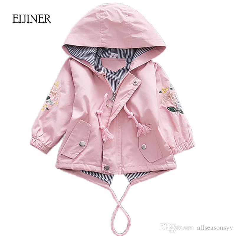 ffe285b00 Embroidered Girls Coat 2018 Autumn Jackets For Baby Girls Jackets Kids Warm  Outerwear Coats Baby Jacket Newborn Girls Clothes Boy Winter Jackets Cheap  ...