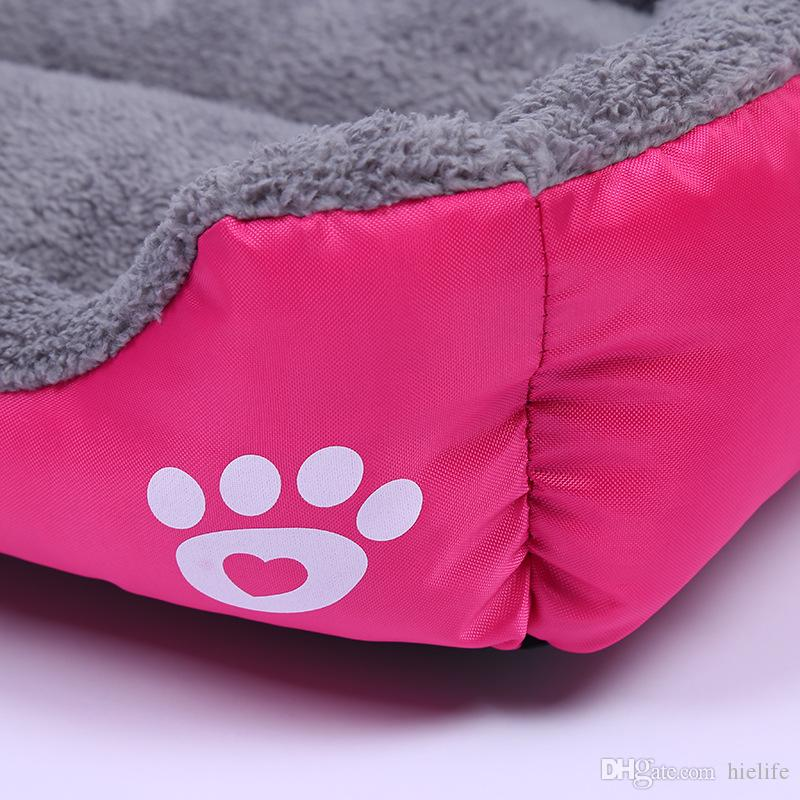 Large Dog Bed Warm Rectangular Dog Bed Bottom Oxford Cloth Waterproof Pet Bed Kennel Pet Sleeping Bag Cat House