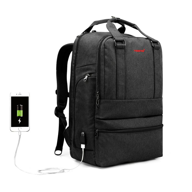 46aee74032ea 2019 New Arrival Tigernu Business Travel Backpack Tablet Bag USB Laptop  Backpack Handbag For Men Laptop Bags Totes From Bags668