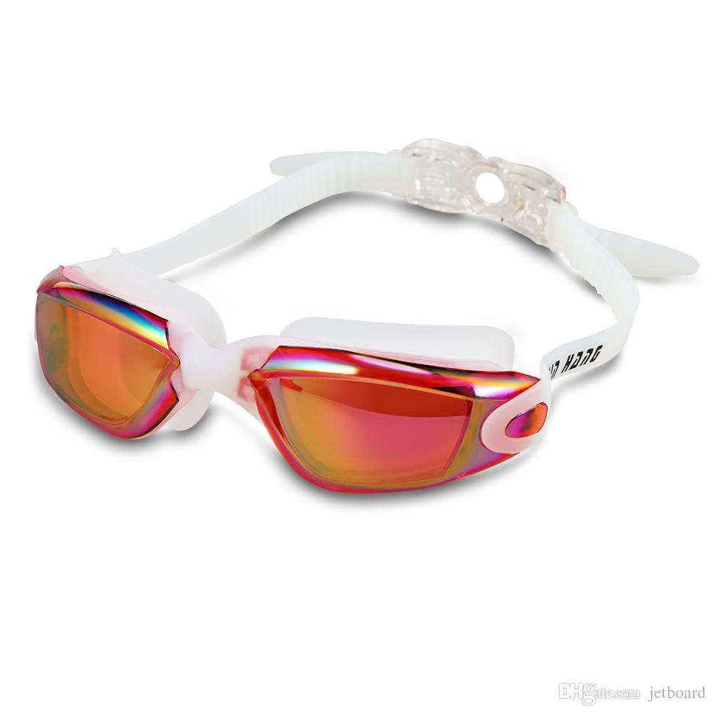 828010f66 Compre XinHang XH5710 Óculos De Natação Com Anti Nevoeiro Proteção UV Óculos  De Armação Grande HD Senhoras À Prova D  Água De Proteção UV Óculos De  Natação ...