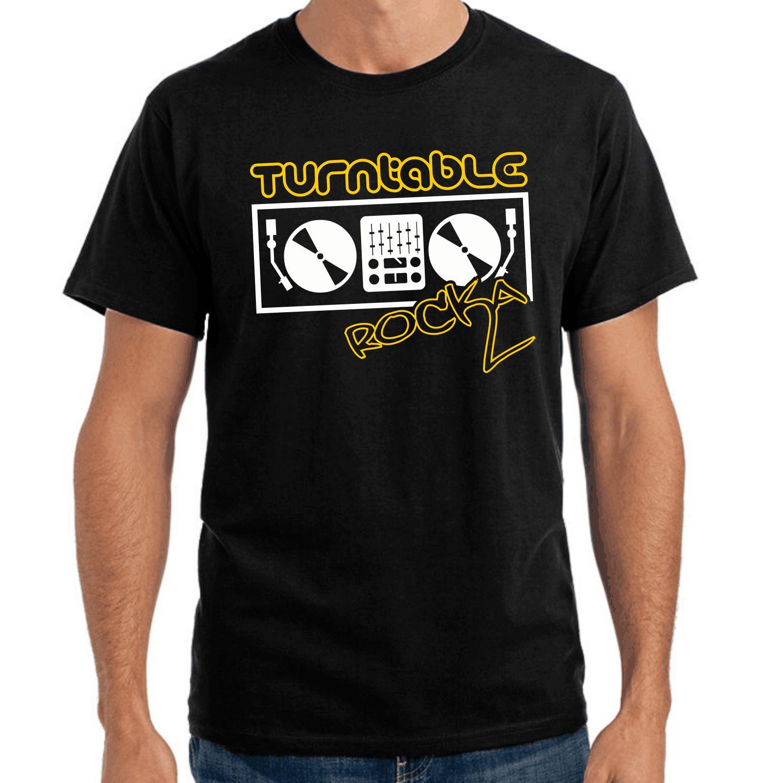 Turntable Rocka Rocker Vinyl Dj Oldschool Music S Xxl T Shirt