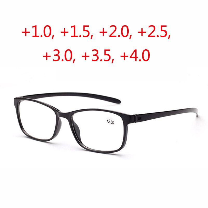 a4ae312d531d6 Compre Super Light PC Óculos De Leitura Homens Mulheres Função Óculos  Ópticos Para Pessoas Idosas Hipermetropia Presbiopia Idosos Preto Vermelho  Marrom ...