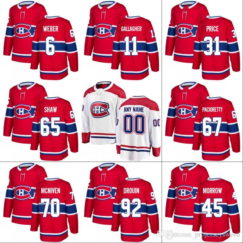 cheap for discount 53e5f d37a6 Montreal Canadiens Jersey 92 Jonathan Drouin 11 Brendan Gallagher 31 Carey  Price 65 Andrew Shaw 76 P.K. Subban Hockey Jerseys
