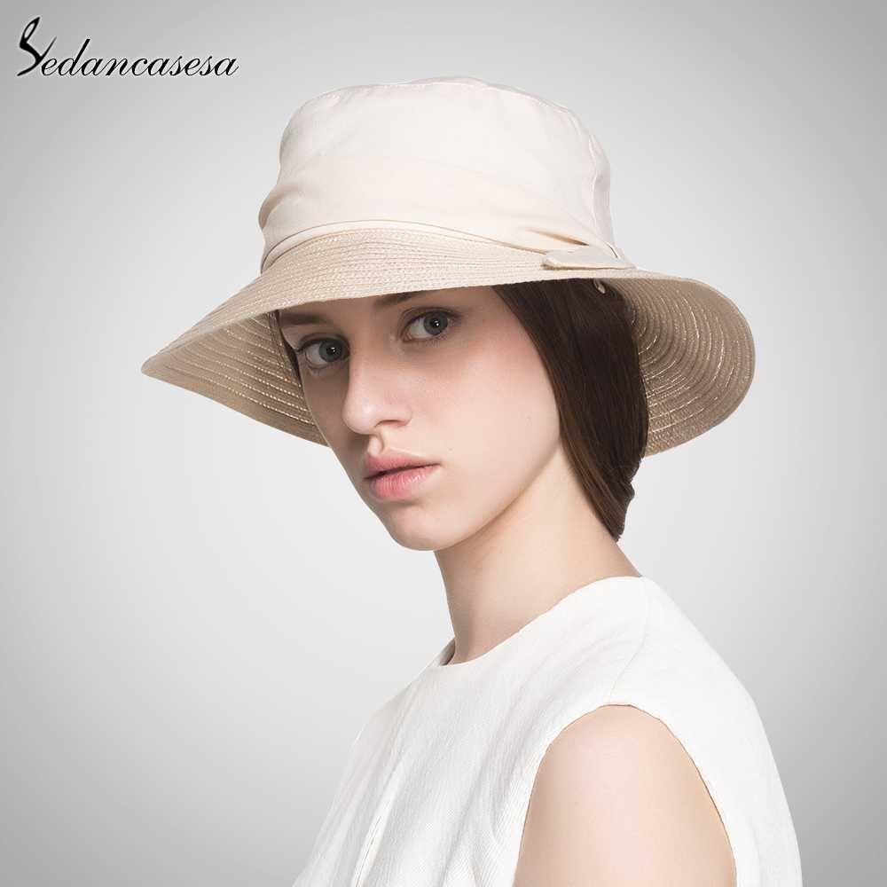 4e65cab2a61 Bucket Hat Women Summer Sun Hats Folding Outdoor Cap Fisherman Hat ...
