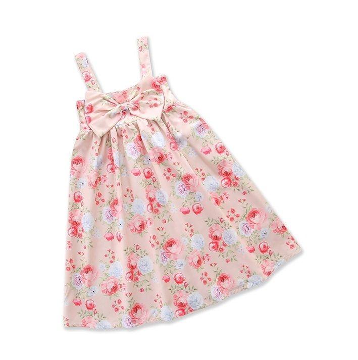 f0633892e8 2018 Children s Dresses for Girl s Clothing Cotton Floral Princess ...
