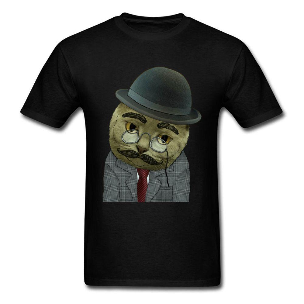 e315b3015c9d Popular Men's Vintage Grumpy Cat Print T-shirt Classic Color Male Black Tee  Shirt Cotton Summer Spring Cute Tops