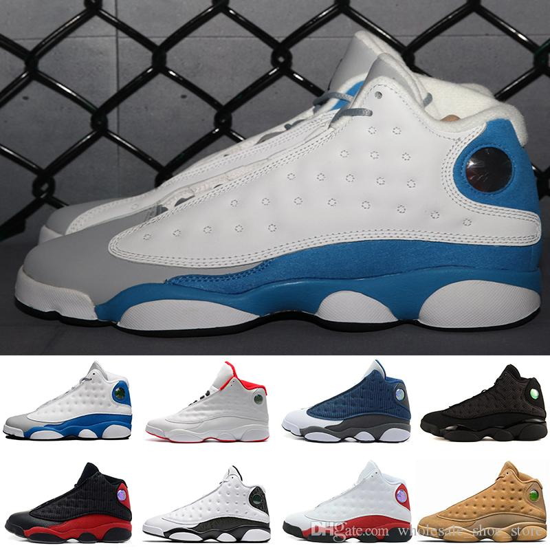 da879367091e 2019 New Arrive Popular 13 Hyper Royal GS Italy Blue Olive Men Basketball  Shoes 13s Men Sports Sneaker Athletics Shoes Size8.0 13 From  Wholesale shoe store
