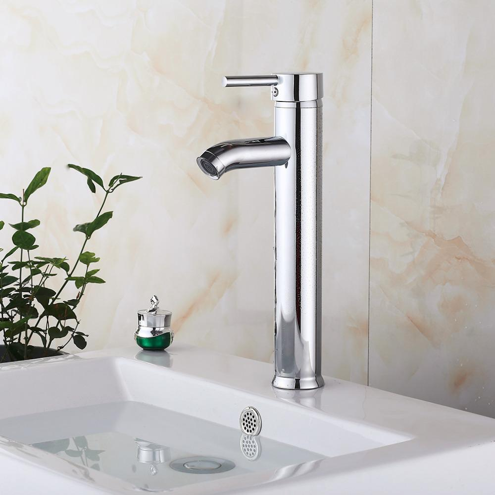 Charmant 2018 12 Inch Tall Kitchen/Bathroom Vessel Sink Faucet One Hole/Handle  Faucet Mixer Tap Single Lever Solid Brass Hot Sale From Stunning88, $31.98  | Dhgate.