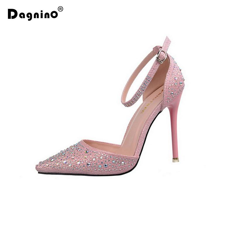 76ab1289ab8e0a Wholesale Women Pumps Sexy High Heels Shoes Woman Silver Rhinestone Wedding  Shoes Ladies Party Summer Sequins Hight Heels Sandals Wedge Shoes Casual  Shoes ...