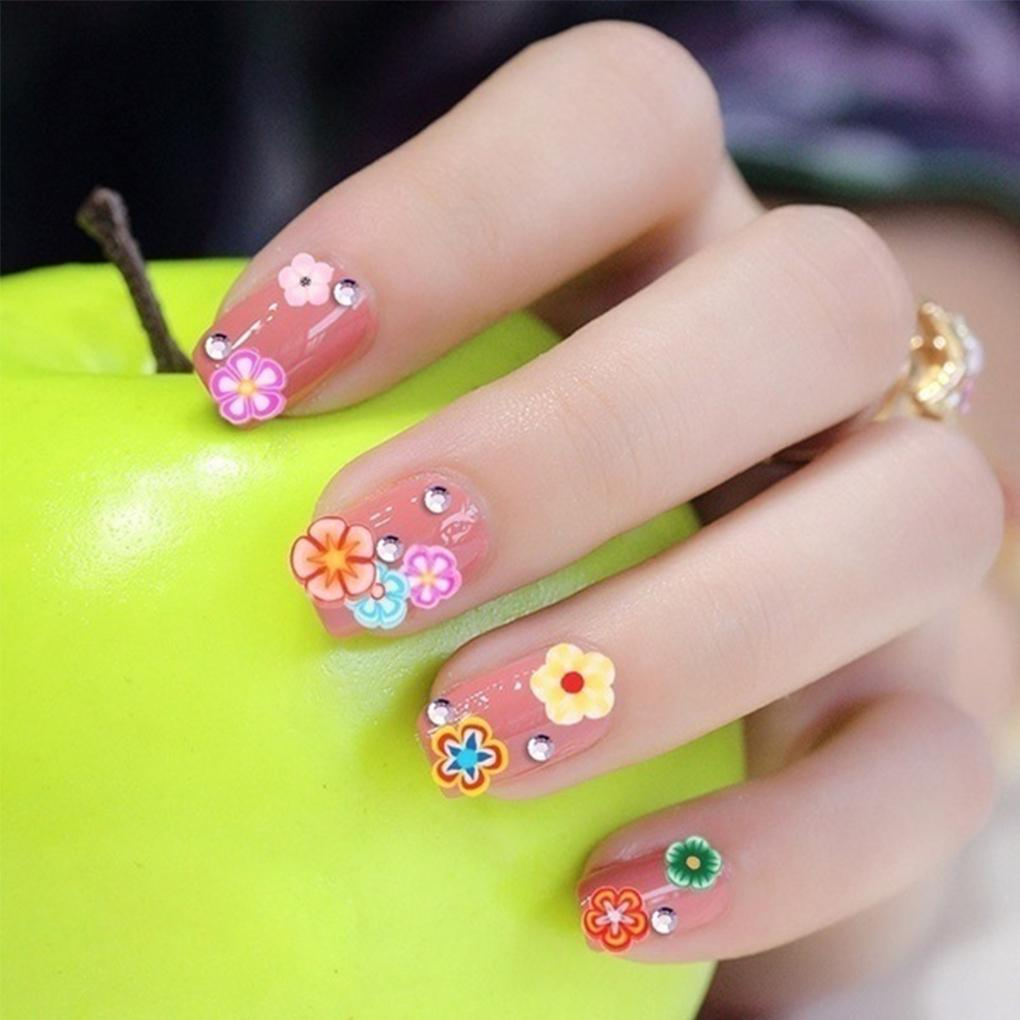 2018 Big Sale Cute Nail Art 3d Fruit Feather Flowers Mix Projects
