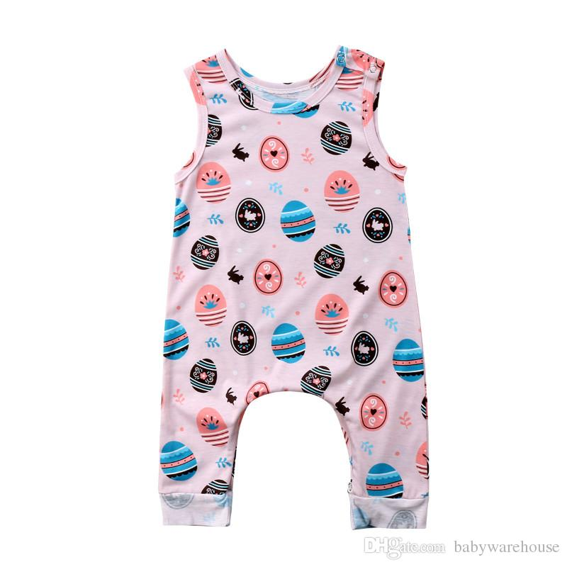 5b5c9fb272e 2019 2018 Cute Easter Baby Clothes Toddler Baby Rompers Infant Newborn Boys  Girls Printed Easter Egg Romper Jumpsuit Sunsuit Outfit Kids Clothing From  ...